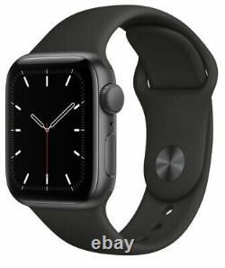 Apple Watch SE 44mm Space Gray Case With Black Sport Band (GPS) PRISTINE IN BOX