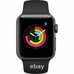 Apple Watch Series 3 GPS 38 mm Space Gray Case with Black Band MTF02LL/A