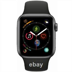 Apple Watch Series 4 GPS 44mm Space Gray Case with Black Sport Band MU6D2LL/A