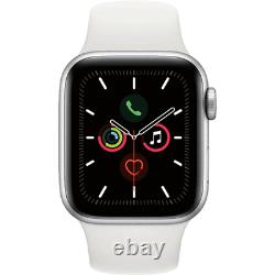 Apple Watch Series 5 GPS 40MM Silver Aluminum Case White Sport Band MWV62LL/A