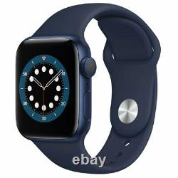 Apple Watch Series 6 40MM GPS Aluminum Case with Navy Sport Band MG143LL/A