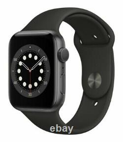 Apple Watch Series 6 40mm Space Gray Case Black Band GPS + Cellular PRISTINE