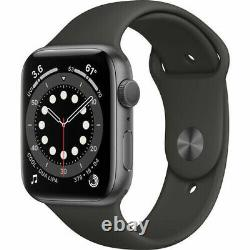 Apple Watch Series 6 (GPS, 44mm) Space Gray Aluminum Case with Black Sport Band