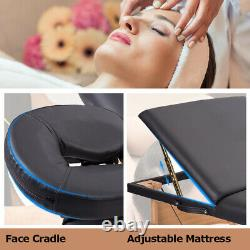 BestMassage Comfort Pad Portable Massage Table Facial Spa Bed with Carry Case