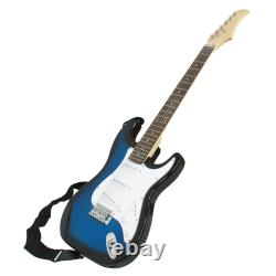 Blue Full Size Electric Guitar with Amp, Case and Accessories Pack Beginner