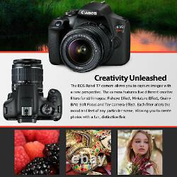 Canon Rebel T7 DSLR Camera +18-55mm Lens and 64GB Ultra Speed Memory Card, Case