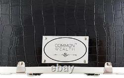 Common Wealth Silver Barber Lock Case Organizer Clippers Trimmers Tools Holder