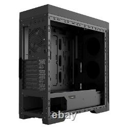 Game Max Abyss ARGB Full Tower ATX Gaming PC Case Tempered Glass LED Fans EATX