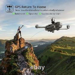 Holy Stone 4K GPS Drone with HD Camera Brushless Quadcopter 2 Battery + CASE NEW