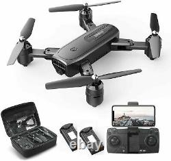 Holy Stone HS350 Foldable FPV Drone with Wifi Camera Quadcopter 2 Battery +CASE