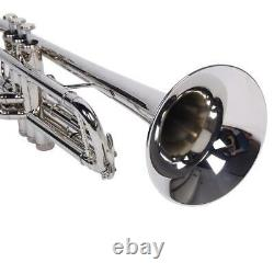 Hot Sale B Flat Silver Bb Trumpet for Concert Band with Case