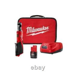 Milwaukee M12 Cordless 3/8 Ratchet Wrench with Battery Charger and Case