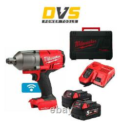 Milwaukee M18ONEFHIWF34-502X 18v 3/4in One-Key Fuel High Torque Impact Wrench 5A