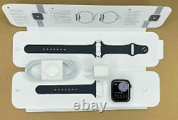 NEW! Apple Watch Series 5 44mm Space Gray Case Black Band (MWVF2LL/A)