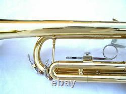 NEW BRASS STUDENT SCHOOL BAND TRUMPET WithCASE. APPROVED+ WARRANTY