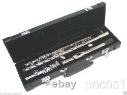 New 2021 Student To Intermediate Silver Concert Band Flute-with Yamaha Pads