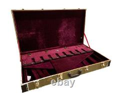 New 8 Guitar Hardshell Vintage Tweed Case Stand For Studio, Stage Or Home