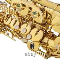 New Beginner Student Super Sound Paint Gold Eb Alto Saxophone Sax withCase