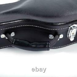 New Bulge Surface Electric Guitar Hard Shell Case Black