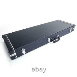 New Protable Electric Guitar Square Hard Case with Silver Hardware and Lock