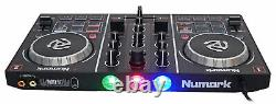 Numark Party Mix DJ Controller with Built In Light Show+Microphone+Cables+Case