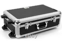 OSP Large DJ Utility Brief Case Road Case with Pull Handle /Wheels /Foam