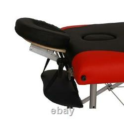 Portable 3 Fold Massage Table Aluminum Facial SPA Bed WithFree Carry Case US