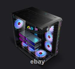 Robin III Gaming desktop Computer PC Case ATX Mid Tower Tempered glass panel
