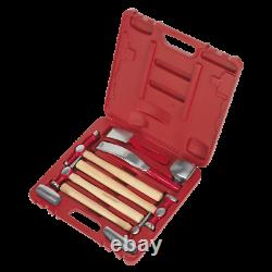 Superb Well Packed Panel Beating Set Case Hammers Bumping Skinning Pick +Dollies