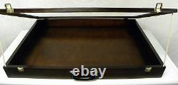 Trade show display case / table top card display case / Jewelry Show Case Black