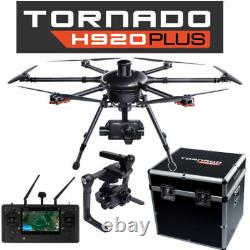 Yuneec Tornado H920+ Plus Drone with CG04 Camera, ProAction, ST16, Case, 3 Batts